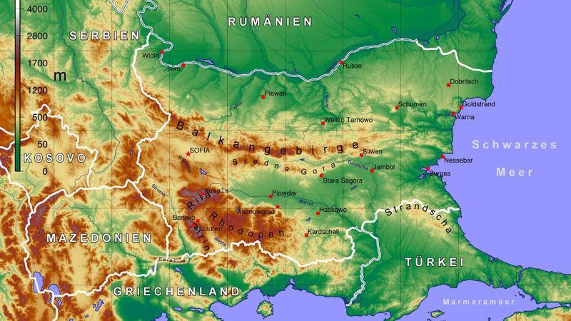 topographische karte bulgarien PinguTours   BULGARIEN   Rila und Pirin